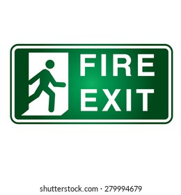 Fire Exit sign - Vector