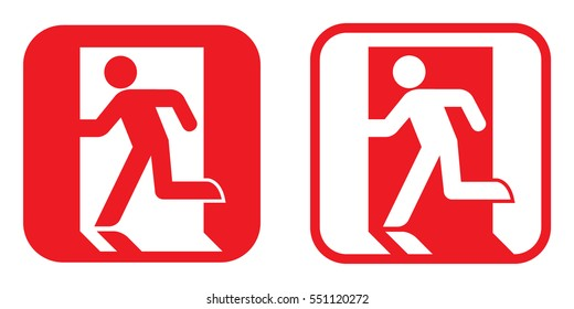 Fire exit sign . Vector illustration