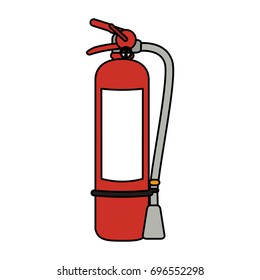 fire extinguisher with blank label icon image