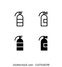 Fire Extinguisher Icon Emergency Firefighter Rescue Urgency Design