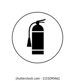 Fire extinguisher icon, logo
