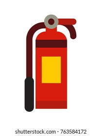 fire extinguisher icon in modern flat vector illustration
