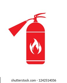 Fire extinguisher icon. Fire safety.
