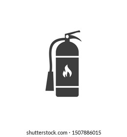 Fire extinguisher icon template color editable. Fire extinguisher symbol vector sign isolated on white background. Fire safety concept idea images.