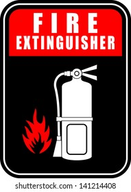 Fire extinguisher, icon vector