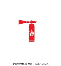 Fire extinguisher icon vector design logo template