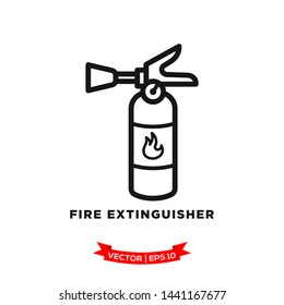 fire extinguisher icon vector logo template