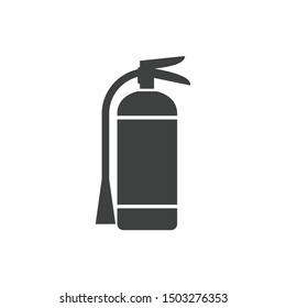 Fire extinguisher icon vector sign isolated on white background. Fire extinguisher symbol template color editable