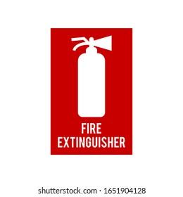 fire extinguisher icon vector trendy
