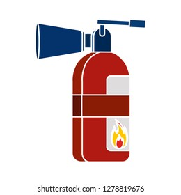 fire extinguisher icon-safety sign-flame illustration-firefighting vector-flammable isolated-fireman illustration