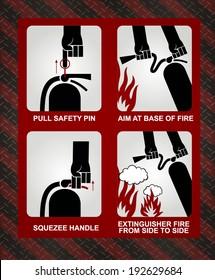 FIRE EXTINGUISHER ILLUSTRATION