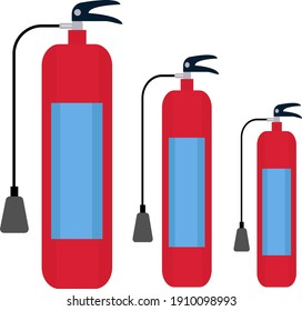 Fire extinguisher, illustration, vector on a white background.