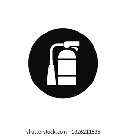 Fire extinguisher rounded icon