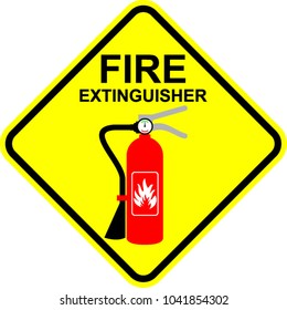 fire extinguisher, sign