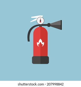 Fire extinguisher sign icon. Fire safety symbol. vector EPS10.