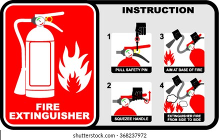 Fire extinguisher, sign vector
