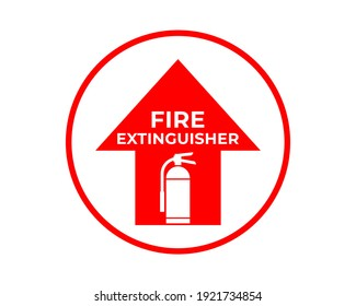 Fire Extinguisher Sign Vector, Easy To Use And Print Design Templates