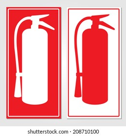 Fire extinguisher signs vector illustration