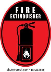 Fire extinguisher, sticker
