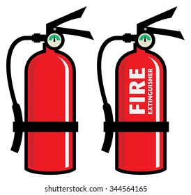 Fire extinguisher, vector illustration