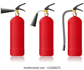 fire extinguisher vector illustration isolated on white background
