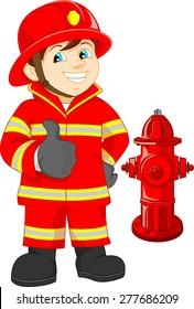 Fireman Cartoon Images Stock Photos Vectors Shutterstock