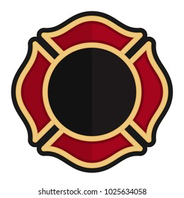 fire fighter emblem. firefighter logo. vector icon. template.