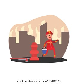 fire fighter extinguisher character