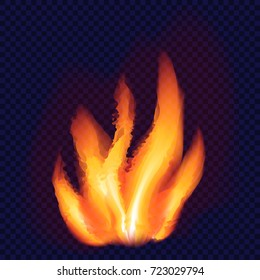 Fire flame concept background. Realistic illustration of fire flame vector concept background for web design