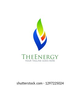 fire flame gas energy logo vector design template. oil, gas energy, industrial, factory, petroleum logo concept