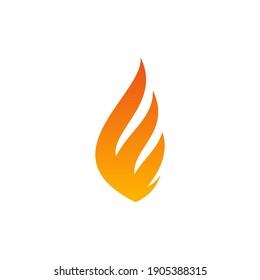 Fire Flame Icon Vector Design