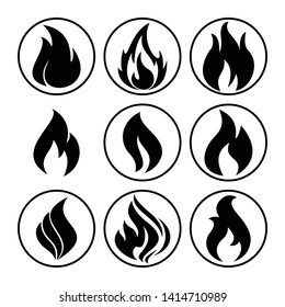 fire flame icon vector symbol