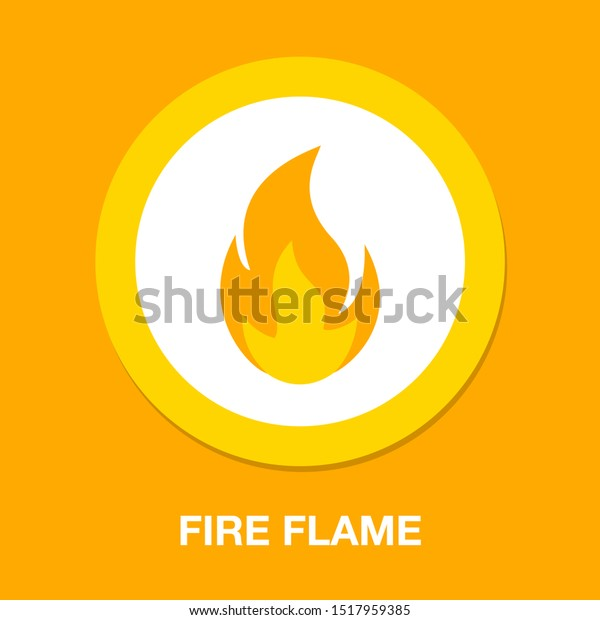 Fire flame illustration isolated, fire flame element - burn sign symbol