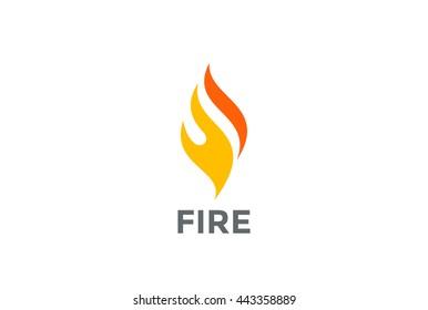 Fire Flame Logo abstract design vector template