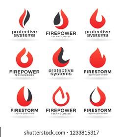 Fire flame logo design