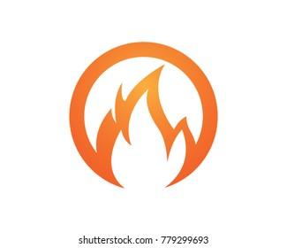 Fire flame logo design symbol