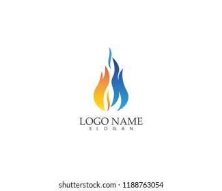 Fire flame logo design vector