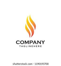 Fire Flame Logo design vector template