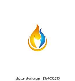 Fire Flame Logo design vector template graphic modern