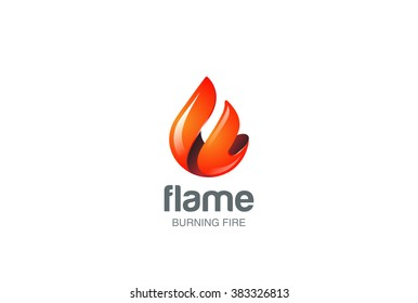 Fire Flame Logo design vector template drop silhouette. Creative Droplet Burn Elegant Bonfire Logotype concept icon Fire Logo.