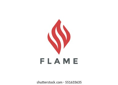 Fire Flame Logo design vector template. Abstract element Logotype concept icon.