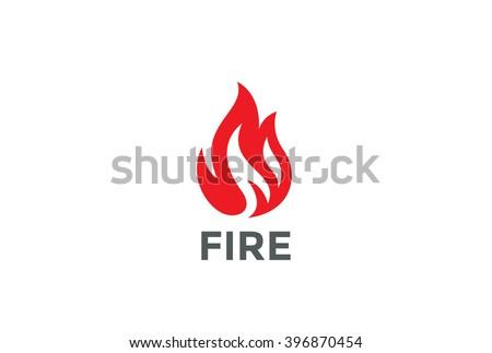 fire flame logo design vector template のベクター画像素材