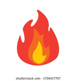 Fire flame Logo icon vector illustration design