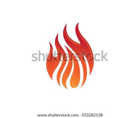 fire flame logo template のベクター画像素材 ロイヤリティフリー