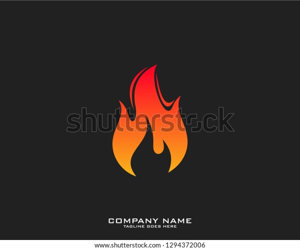 Fire Flame Logo Template Stock Vector (Royalty Free) 1294372006