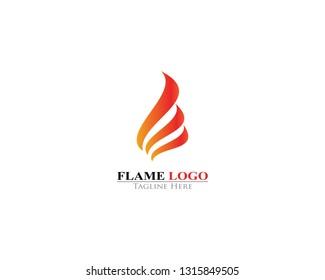 Fire Flame logo template icon design