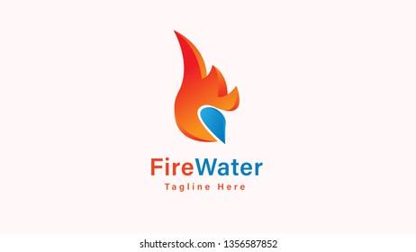 Fire flame Logo Template vector icon Oil, gas and energy logo concept - Vector