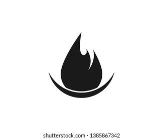 Fire flame Logo Template vector icon Oil,gas and energy logo concept - Vector