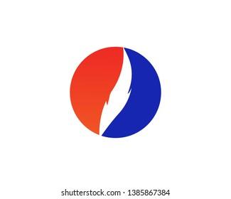 Fire flame Logo Template vector icon Oil,gas and energy logo concept - Vector
