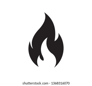 Fire flame logo vector illustration design template. Fire flame icon